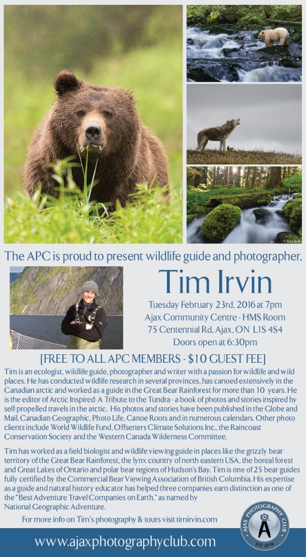 Tim Irvin Feb 2016